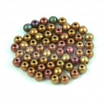 Cseh préselt golyó gyöngy - Crystal Gold Rainbow - 3mm