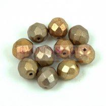 Cseh csiszolt golyó gyöngy - Crystal Gold Rainbow - 8mm