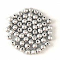 Cseh préselt golyó gyöngy - Aluminium - 3mm