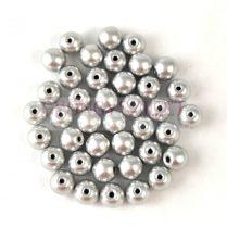 Cseh préselt golyó gyöngy - Aluminium - 4mm