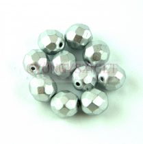 Cseh csiszolt golyó gyöngy - Aluminium - 8mm