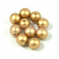 Cseh préselt golyó gyöngy - Aztec Gold - 10mm