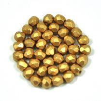 Cseh csiszolt golyó gyöngy - matt metál arany-4mm