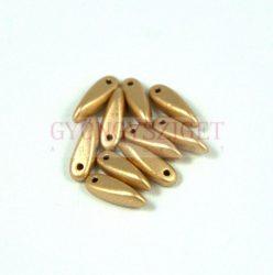 Cseh szirom (dagger) gyöngy - aztec gold- 3x11mm