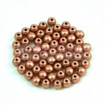 Cseh préselt golyó gyöngy - Matt Metallic Copper - 3mm