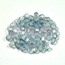 Cseh csiszolt golyó gyöngy - kristály acélkék lüszter-3mm