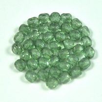 Cseh csiszolt golyó gyöngy - kristály-zöld lüszter-4mm