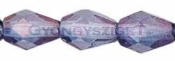 Cseh csiszolt csepp gyöngy 10x7mm - kristály lila lüszter