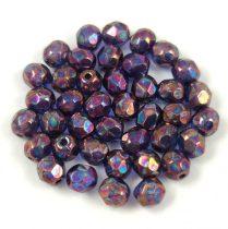 Cseh csiszolt golyó gyöngy - Crystal Purple Iris - 4mm