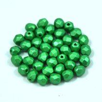 Cseh csiszolt golyó gyöngy - antik zöld metál-4mm