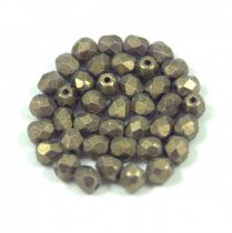 Cseh csiszolt golyó gyöngy - sueded gold tanzanite - 4mm