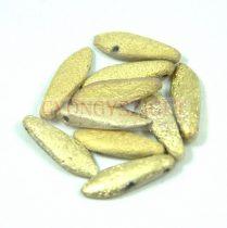 Lándzsa (szirom) cseh préselt üveggyöngy - etched crystal amber -5x16mm