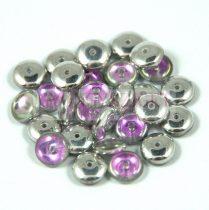 Cseh középen fúrt préselt lencse gyöngy - crystal vitral light -6mm