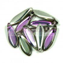 Lándzsa (szirom) cseh préselt üveggyöngy - crystal vitral light  -5x16mm