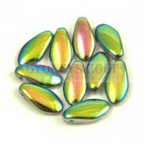 Lándzsa (szirom) cseh préselt üveggyöngy - Crystal Vitral - 6x12mm