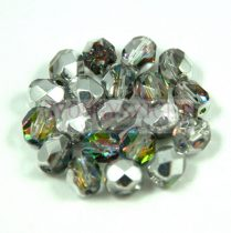 Cseh csiszolt golyó gyöngy - crystal vitrail medium - 6mm