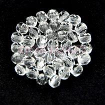 Czech Firepolished Round Glass Bead - Crystal - 3mm - 300pcs