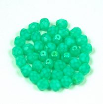 Cseh csiszolt golyó gyöngy - green candy - 4mm