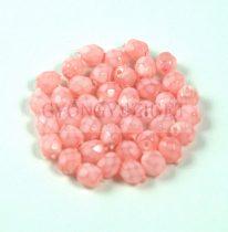 Cseh csiszolt golyó gyöngy - pink candy - 4mm