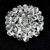 Cseh csiszolt golyó gyöngy - Crystal - 4mm