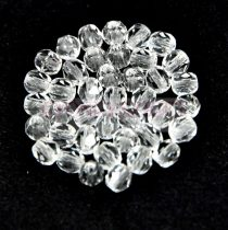 Cseh csiszolt golyó gyöngy - Crystal - 6mm