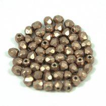Cseh csiszolt golyó gyöngy - saturated metallic hazelnut - 3mm