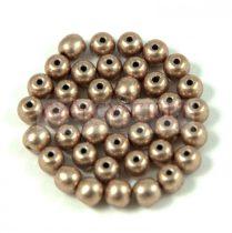 Cseh préselt golyó gyöngy - Saturated Metallic Hazelnut - 3mm