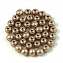 Cseh préselt golyó gyöngy - saturated metallic hazelnut -4mm