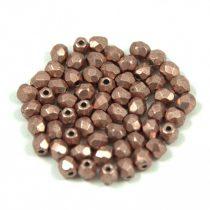 Cseh csiszolt golyó gyöngy - saturated metallic pale dogwood - 3mm