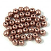 Cseh préselt golyó gyöngy - saturated metallic walnut - 4mm