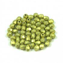 Cseh csiszolt golyó gyöngy - saturated metallic primrose yellow - 3mm