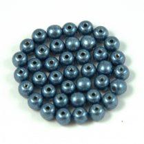 Cseh préselt golyó gyöngy - saturated metallic montana -4mm