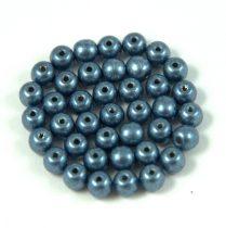 Cseh préselt golyó gyöngy -  saturated metallic montana - 4mm