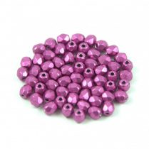 Cseh csiszolt golyó gyöngy - Saturated Metallic Pink - 3mm