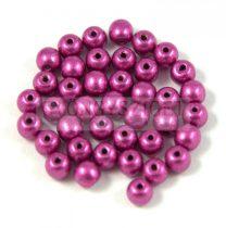 Cseh préselt golyó gyöngy - Saturated Metallic Pink - 3mm