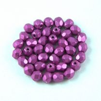Cseh csiszolt golyó gyöngy - Saturated Metallic Pink - 4mm