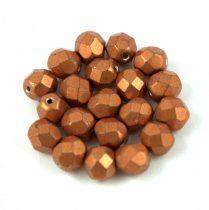 Cseh csiszolt golyó gyöngy - saturated metallic flame -6mm