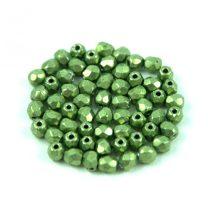 Cseh csiszolt golyó gyöngy - saturated metallic green - 3mm