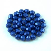 Czech Firepolished Round Glass Bead - Saturated Metallic Lapis - 4mm