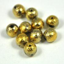 Cseh préselt golyó - etched gold -6mm