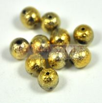 Cseh préselt golyó - etched gold -8mm