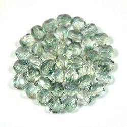 Cseh csiszolt golyó gyöngy - kristály-szürkés kék-4mm