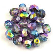 Cseh csiszolt golyó gyöngy - Crystal Magic Blue - 6mm