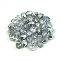 Cseh csiszolt golyó gyöngy - kristály-babarózsaszín metál-4mm