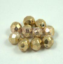 Cseh csiszolt golyó gyöngy - crystal pale gold - 8mm