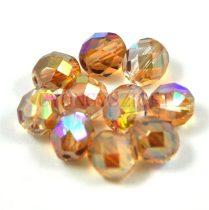 Cseh csiszolt golyó gyöngy - crystal rainbow brown - 8mm