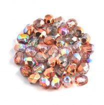 Cseh csiszolt golyó gyöngy - crystal copper rainbow - 8mm