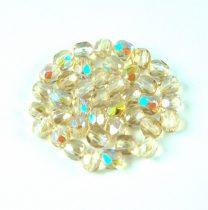 Cseh csiszolt golyó gyöngy - Crystal Honey Rainbow - 4mm