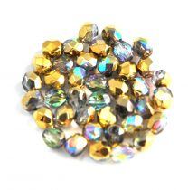 Cseh csiszolt golyó gyöngy - crystal golden rainbow -4mm