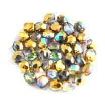 Cseh csiszolt golyó gyöngy - Crystal Golden Rainbow - 4mm